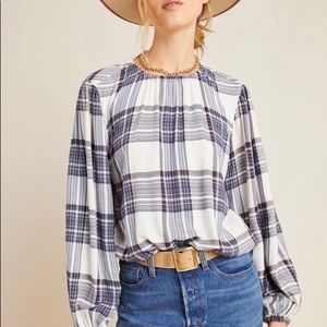 Cloth & Stone Glacier Plaid Blouse